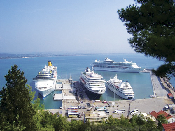 The cruise port  hosting the maximum number of ships