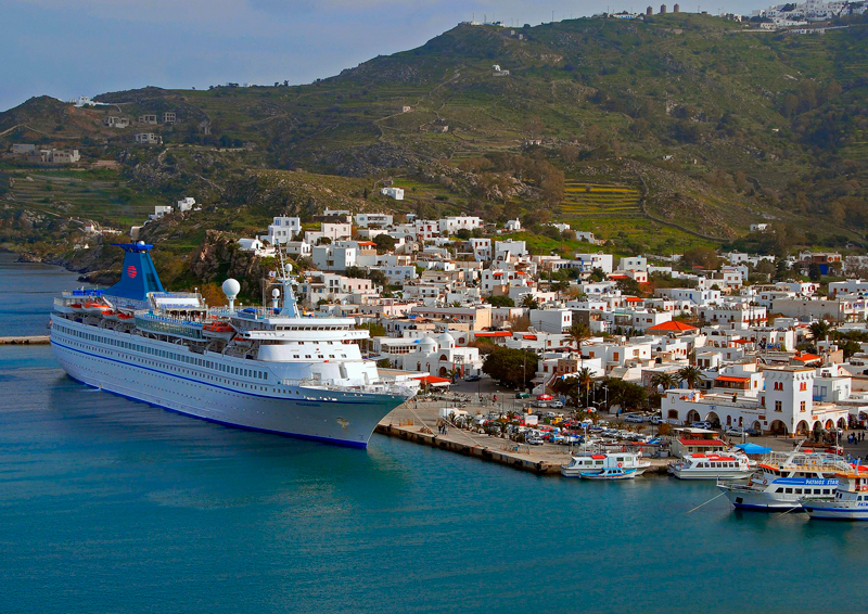 Cruise ship in the port