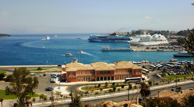 The port of Corfu