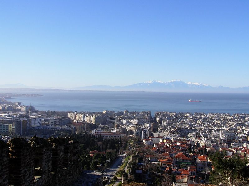 View of Thessaloniki from the old town