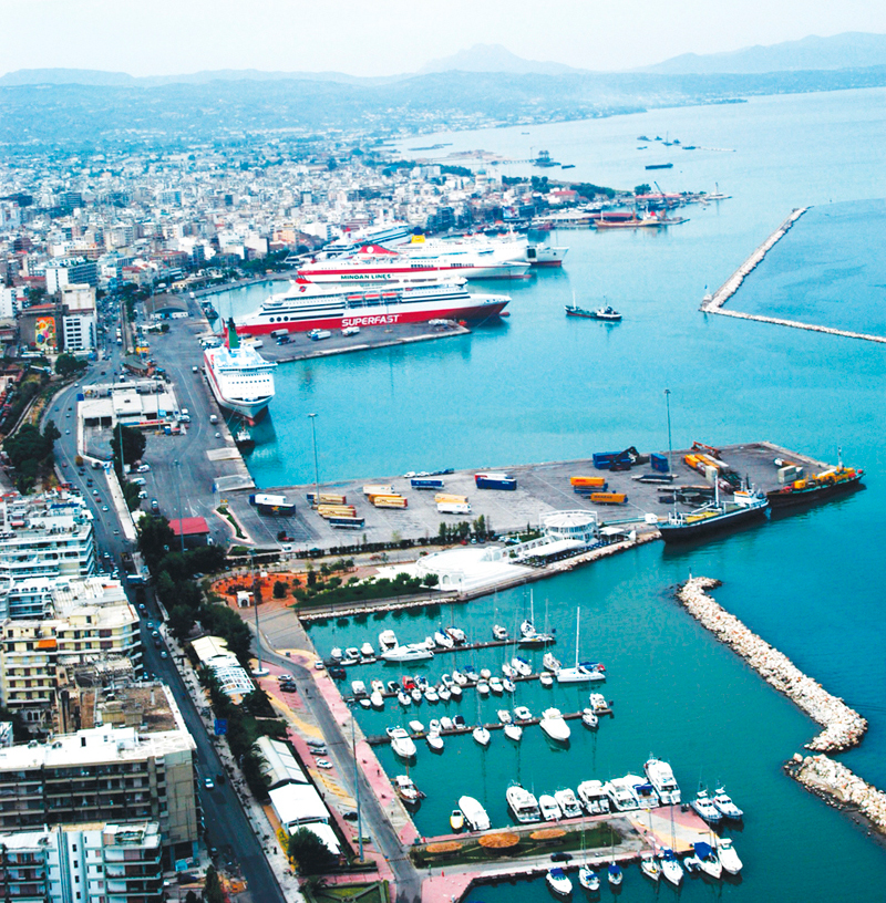 Northern port of Patra