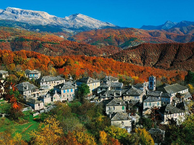 Village on the mountains of Zagori