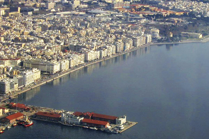 Port view from the air