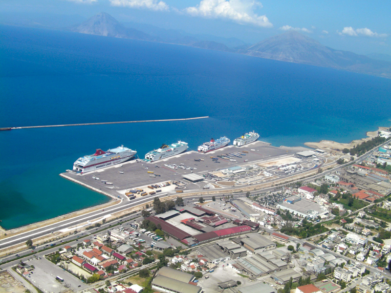 Southern port of Patra