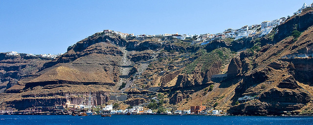 Old Port of Santorini Island, Port of Fira Bay