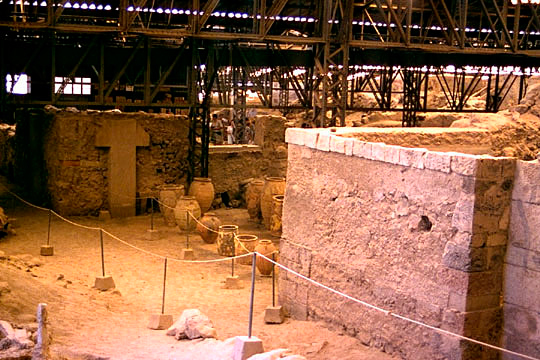 Archeological site of akrotiri