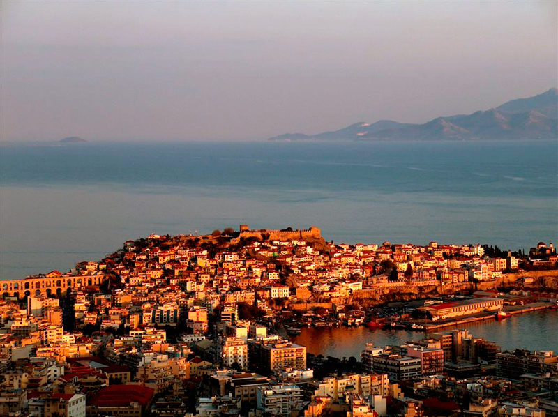 The amphitheatrical city of Kavala