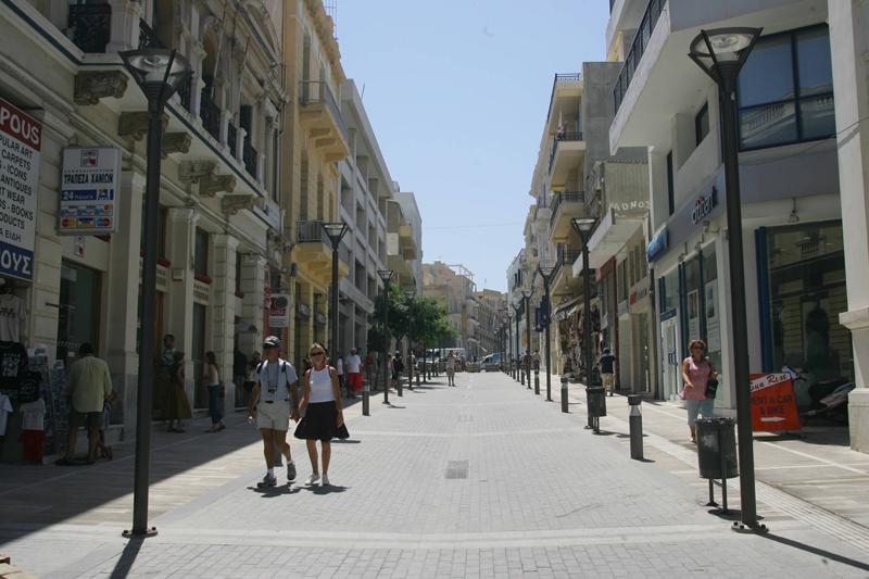 Heraclion city pedestrial zone