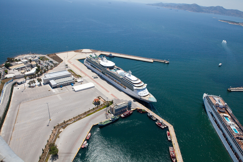 The closest to the port entrance cruise terminal