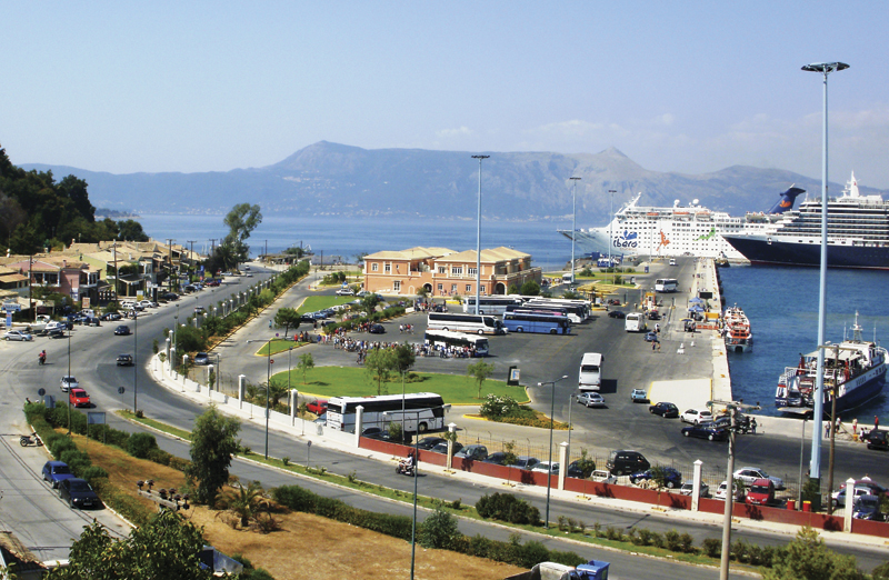 The port of Corfu