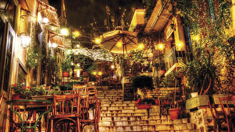 Plaka Athens by night