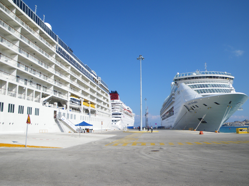 Exiting the ship