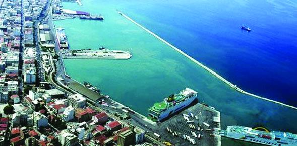 Northern port of Patra